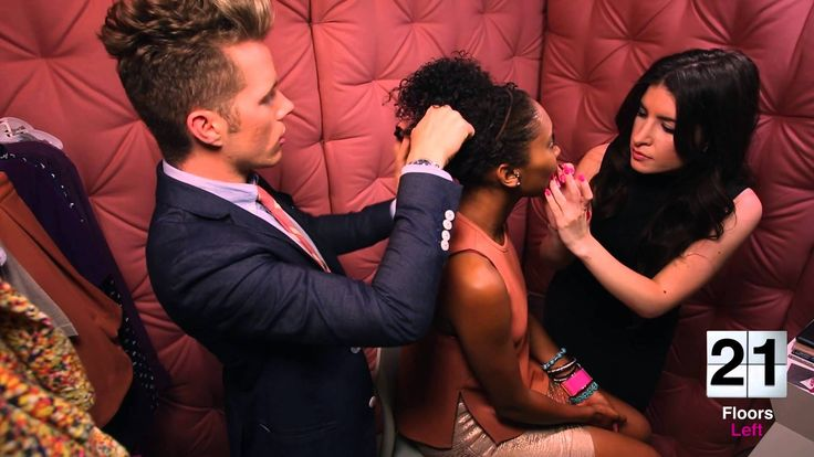 Glamour Elevator Makeover & tips for curly hair, brown skinned woman.  Chic.