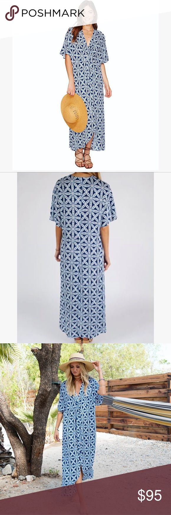 NWT! SHOW ME YOUR MUMU! Get Twisted Maxi Dress BRAND NEW!! Print: Wagon Wheel Cloud! Super adorable!! Can be dressed up w/ wedges or worn casually w/ sandals! Perfect for the season! Fits flowy & twists in the middle which makes it flattering! Only thing I wanted to point out was the dress has a small snag on it! I showed 2 pictures above...1 from far away (because you seriously can't see it all, even if you look for it) and 1 pic up close! You could get it easily fixed by a seamstress if…