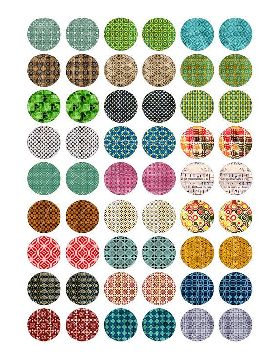 Rapsodie patronen digitale Collage vellen 1 door MobyCatGraphics