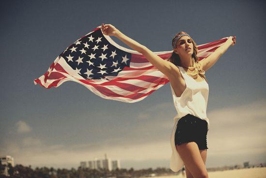 American flag + fashion