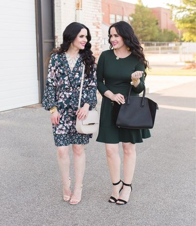 As best friends and twins we have so much fun coming up with new #sisterstyle posts each week. 😊 We can't thank you enough for all your sweet comments. It really means so much! 💕 P.S. If you haven't check out this #ootd to #ootn looks on our blog, head to TheDoubleTakeGirls.com now for the scoop! ❤️ P.S. This under $55 satchel just came back in stock too! 🎉 // http://liketk.it/2sfDa @liketoknow.it #liketkit