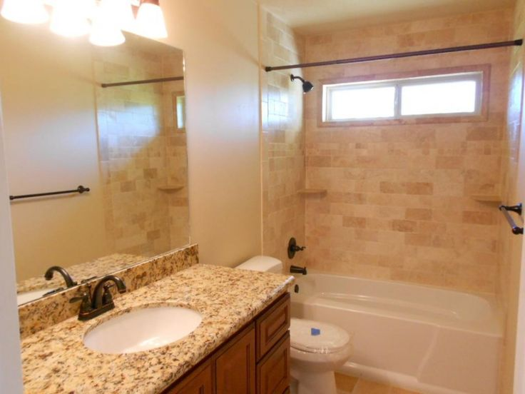 Furniture Interior Bathroom. Divine Shower Tub Combo Decorations Ideas. Alluring Brushed Nickel Shower Tub Combo  Come With Stainless Steel Curtain Track And Beige Tile Stones Wall Plus Brown Varnished Wood Granite Tops Bathroom Vanity Together With Brown Brushed Nickel Double Handle Faucet Also Large Mirror Plus White Toilet Seat. Shower Tub Combo