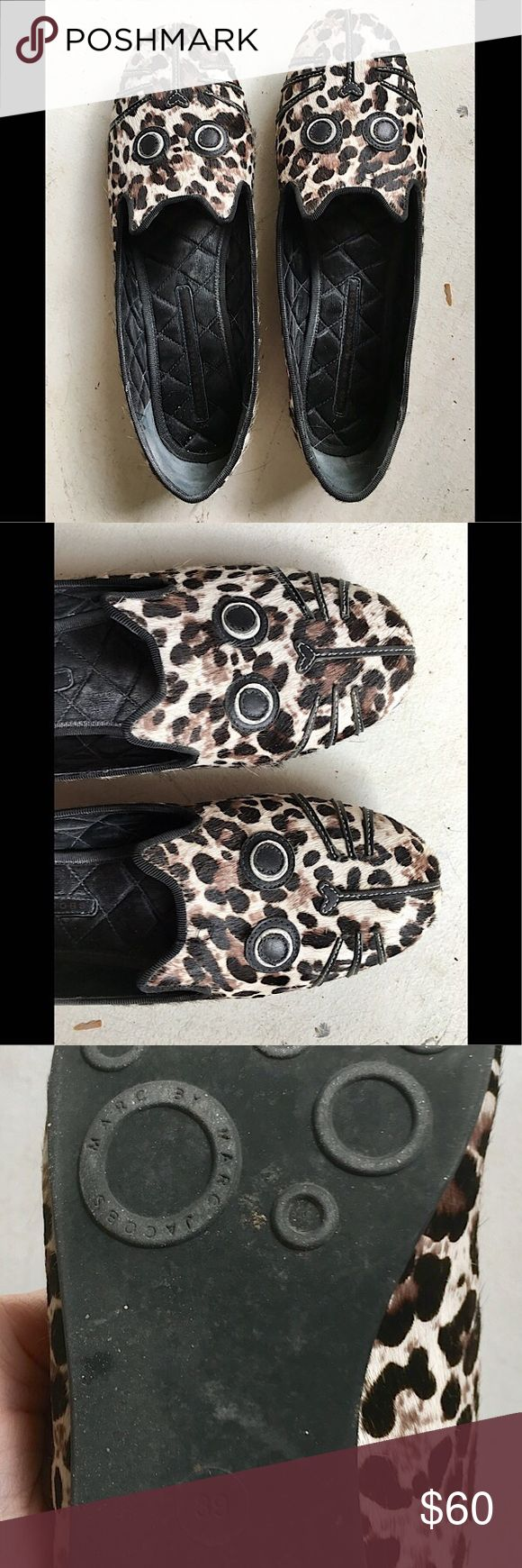 Marc by Marc Jacobs Cat Flats Size 9 or Size 39 Marc by Marc Jacobs Cat Flats. Size runs slightly small and the fabric on the outside feels like fur. Marc By Marc Jacobs Shoes Flats & Loafers