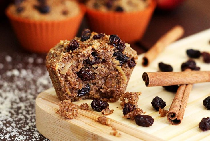 Moist and delicious you'll love the flavor of this wheat-free and refined sugar-free paleo-friendly muffin recipe w/ apple, raisins, maple syrup and spices.