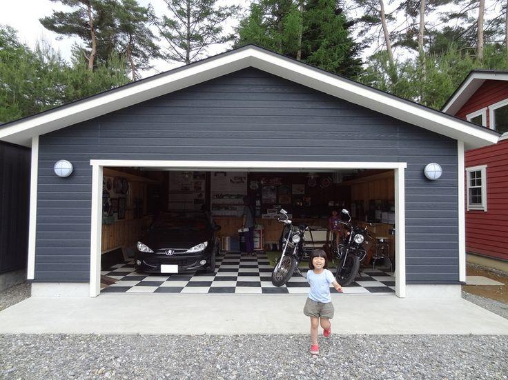 キットガレージの展示場に行って来ました: HandyMan この辺が見たかったやつで、大きめのガレージです。 左が片流れの屋根で居住スペース付きのもの。右が切妻のもの。どちらも2台以上の大きさのものですが、我が家の場合 ...