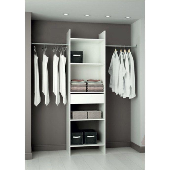 Dressing Facile A Faire #4: Kit Dressing Blanc Modulu0027eco, H203 X L180 X P40 Cm 50u20ac Leroy