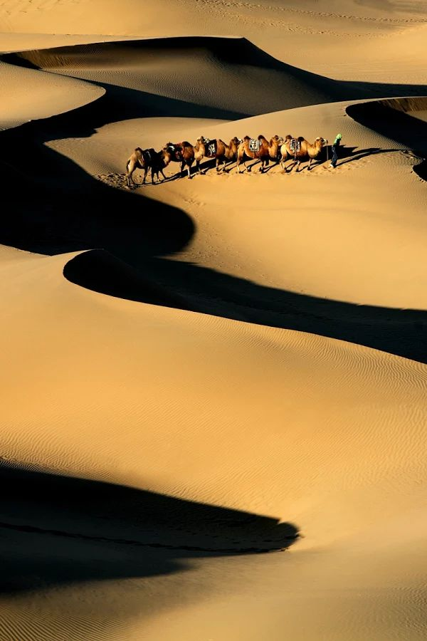 Photo: Taklamakan Desert is a desert in southwest Xinjiang Uyghur Autonomous Region, northwest China. It is bounded by the Kunlun Mountains to the south, the Pamir Mountains and Tian Shan (ancient Mount Imeon) to the west and north, and the Gobi Desert to the east.