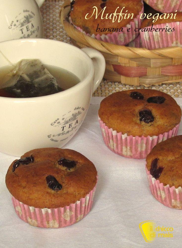 verticale muffin vegani banana e cranberries ricetta facile muffin senza uova il chicco di mais
