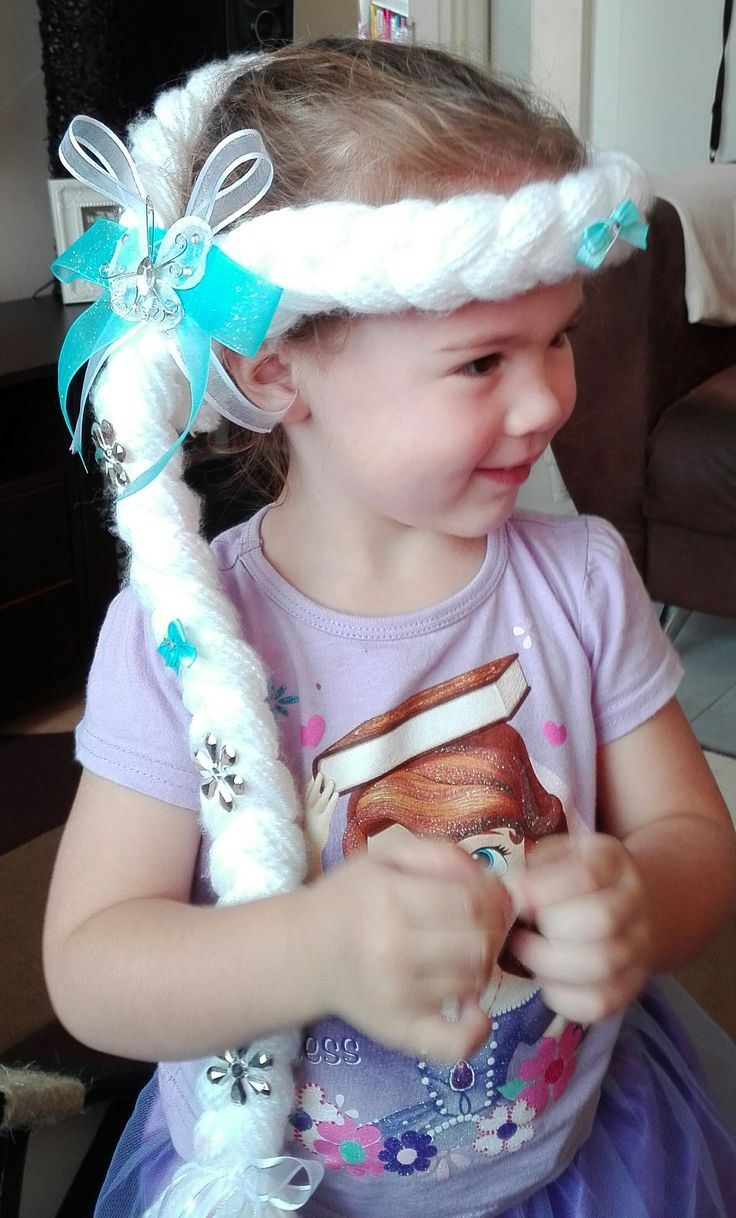 Frozen hairpiece I made for my Granddaughter Kenzy