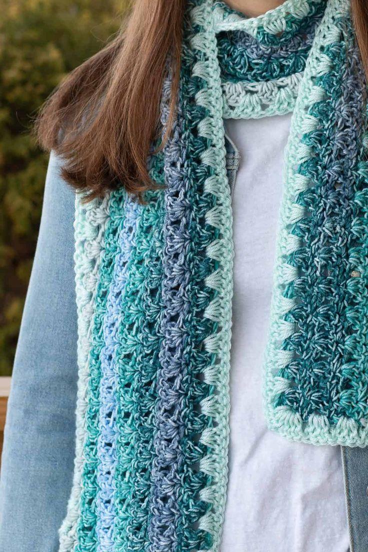 Mandala Ombre Yarn Crochet Scarf Pattern in 2020 (With