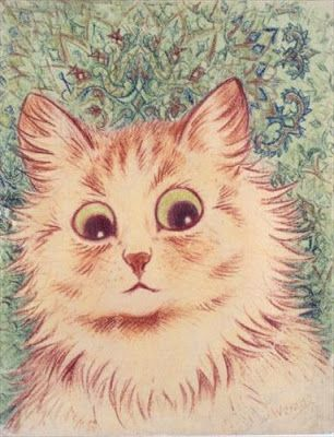 Illogical Contraption: WAIN'S WORLD: Schizophrenic Thoughts, Psychedelic Cats