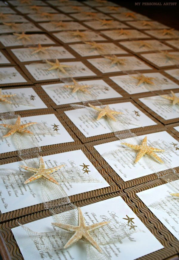 Stylish Starfish Wedding Invitations That Are Star-Worthy | Unique Wedding Invitations & Custom Handmade Invitations | My Personal Artist