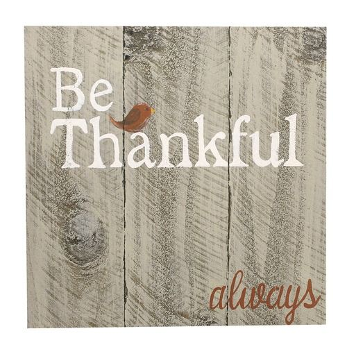 Most of us need to be reminded to count our blessings, especially when our crosses seems heavier than usual. This homey sign has a rustic feel, and is a simple, cheerful piece of encouragement to hang in your home.
