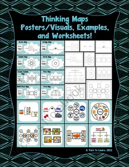 121 best thinking maps images on pinterest thinking maps thinking maps postersvisuals examples and worksheets product from a turn sciox Image collections