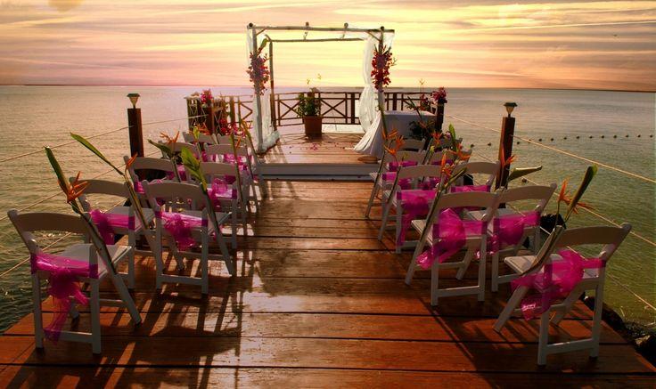 St. Lucia - Calabash Cove Sunset Boardwalk Wedding sans the sand :)