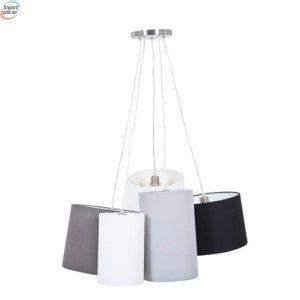 Moderne Taklamper Grå, beige, sort, hvit Elegant