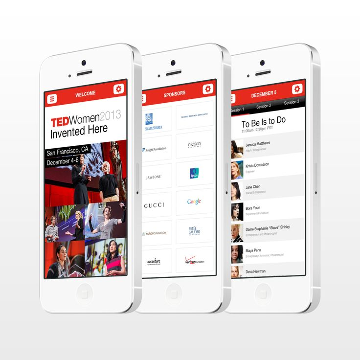 A showcase of the TED Conference app