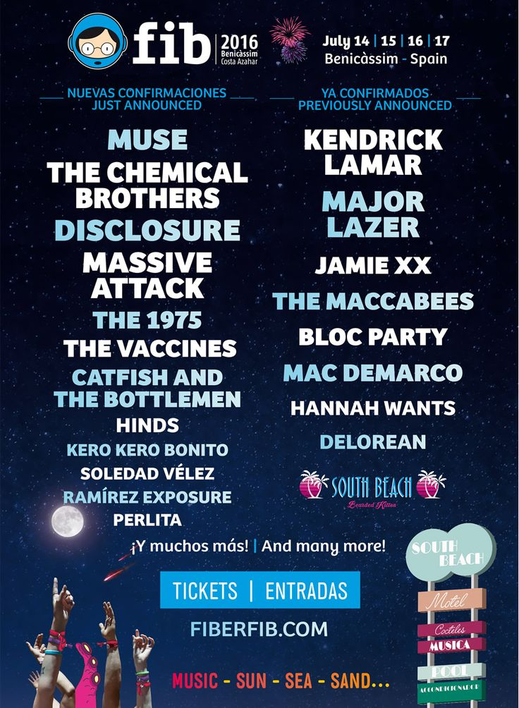 Muse, The Chemical Brothers, Disclosure and more added to FIB 2016  #spain Benicàssim Festival