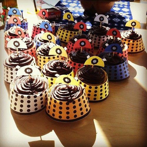 Dalek cupcakes!!