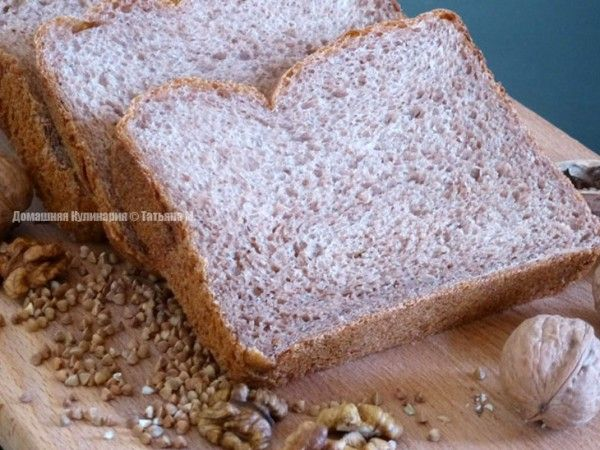 Гречнево-ореховый хлеб с чесноком в хлебопечке. Рецепты выпечки из хлебопечки в кулинарном блоге Татьяны М.