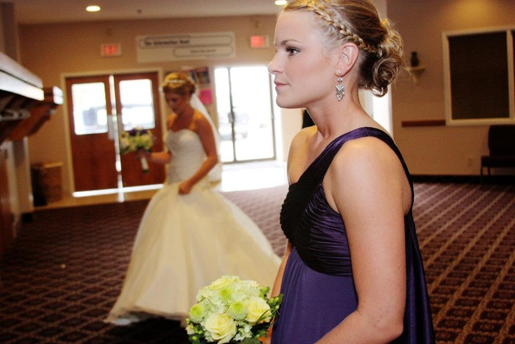braid updo  bridesmaid wedding