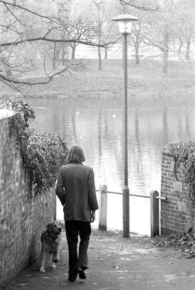 Nick Drake photographed by Keith Morris, Hampstead Heath, 1970