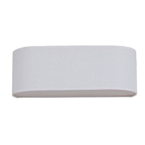 Vanity Light Refresh Kit Lowes : Catalina 7-inx21-in White Linen Fabric Bathroom Vanity Light Refresh Item# 410549 Model# 18487 ...