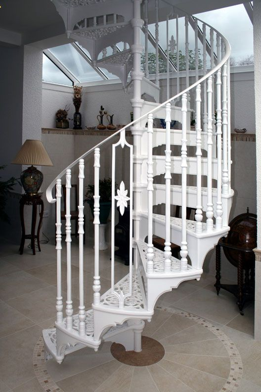Victorian Spiral Stair With Victorian Balusters And An