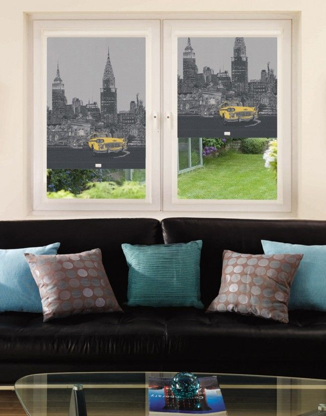 CityScape New York Perfect Fit Roller Blind - Direct Order Blinds UK
