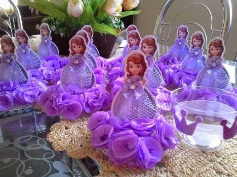 Centro de Mesa Para Festa Infantil Princesa Sofia - YouTube