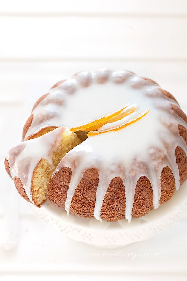 citrus cake with lemon icing