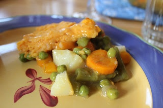 Canadian Home: Baked Veggie Stew with Sweet Potato Dumpling Crust ...