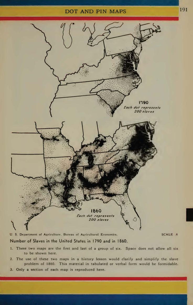 United States Slave Population Maps 1790 and