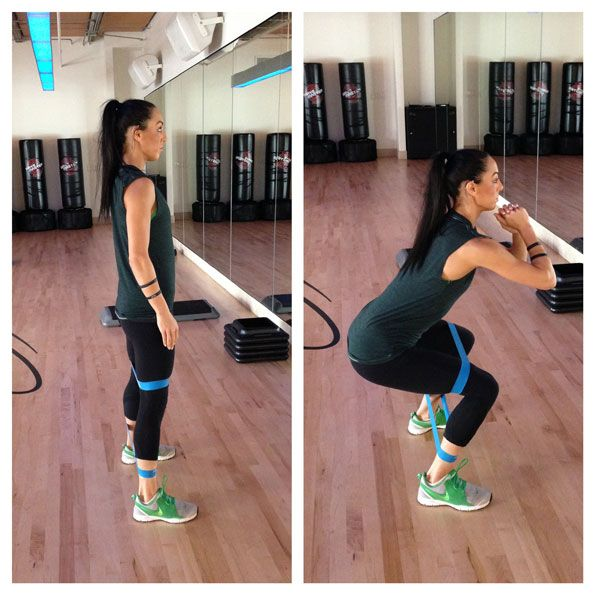 Five Moves to Get You Bikini Ready: Lateral Squat #SelfMagazine