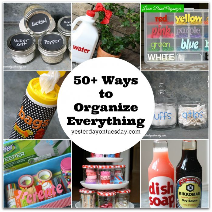 Amazing Organizing Ideas using stuff you already have for pets, kids, the kitchen, bathroom and more!
