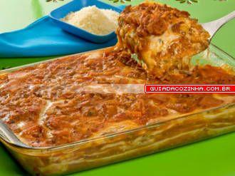 Receita de Lasanha à bolonhesa com massa de pastel