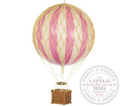Vintage Hot Air Balloon Pink