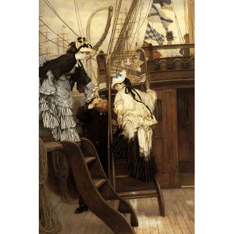 Reprodukcje obrazów James Tissot Boarding the Yacht - Fedkolor