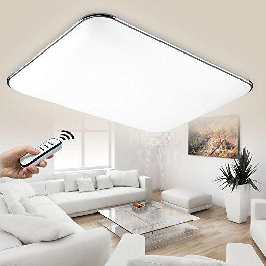 Natsen Led Deckenlampe Modern Wandlampe Wohnzimmer Silber 36w