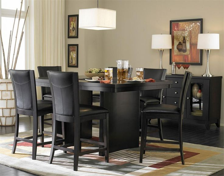 Small Black Dining Room Table And Chairs