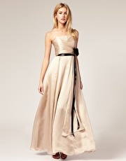 formal;ASOS: Allure Silk, Coast Allure, Black Sash, Eye Poping Champagne, Champagne Satin, Military Ball Dresses, Silk Maxi Dresses, Army Ball, A Line Military