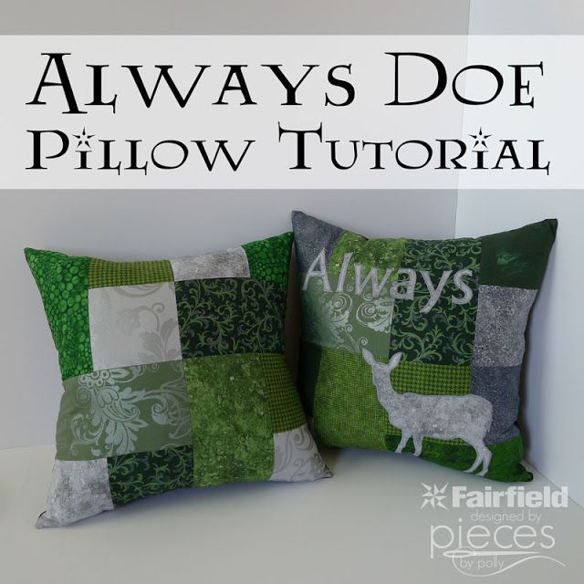Pieces by Polly: Harry Potter Always and Doe Patronus Pillows