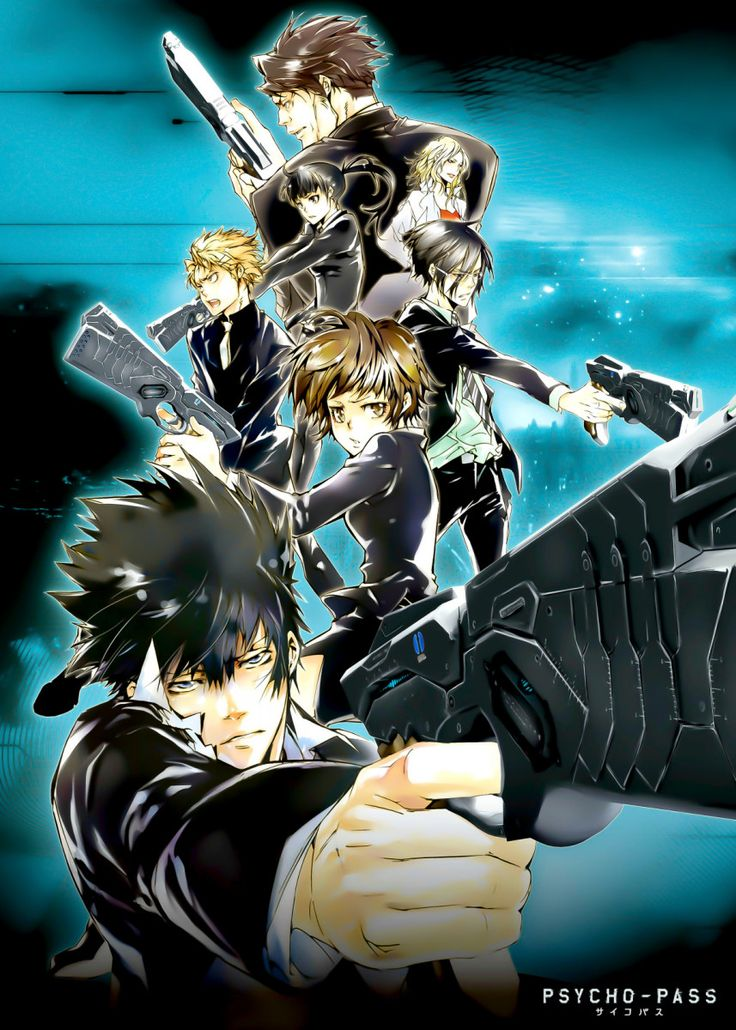 'Anime Vintage Psycho Pass' Metal Poster Team Awesome