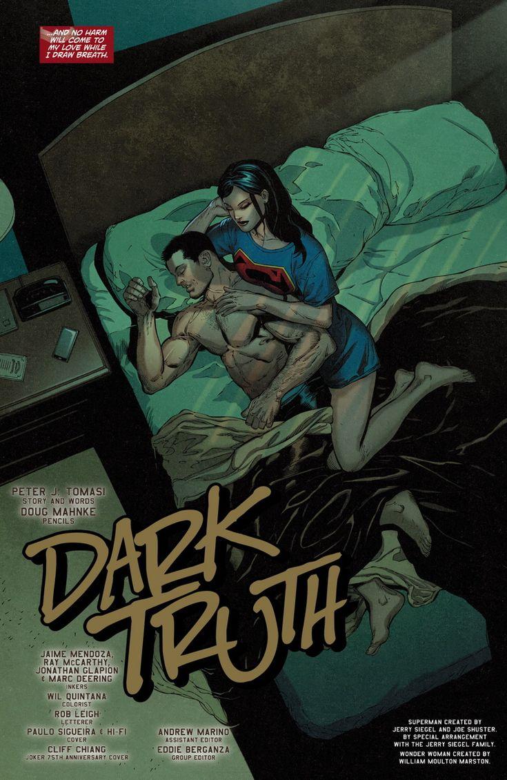 Wonder Woman keeps a vigil on a sleeping Superman in this Superman/Wonder Woman #18 preview.
