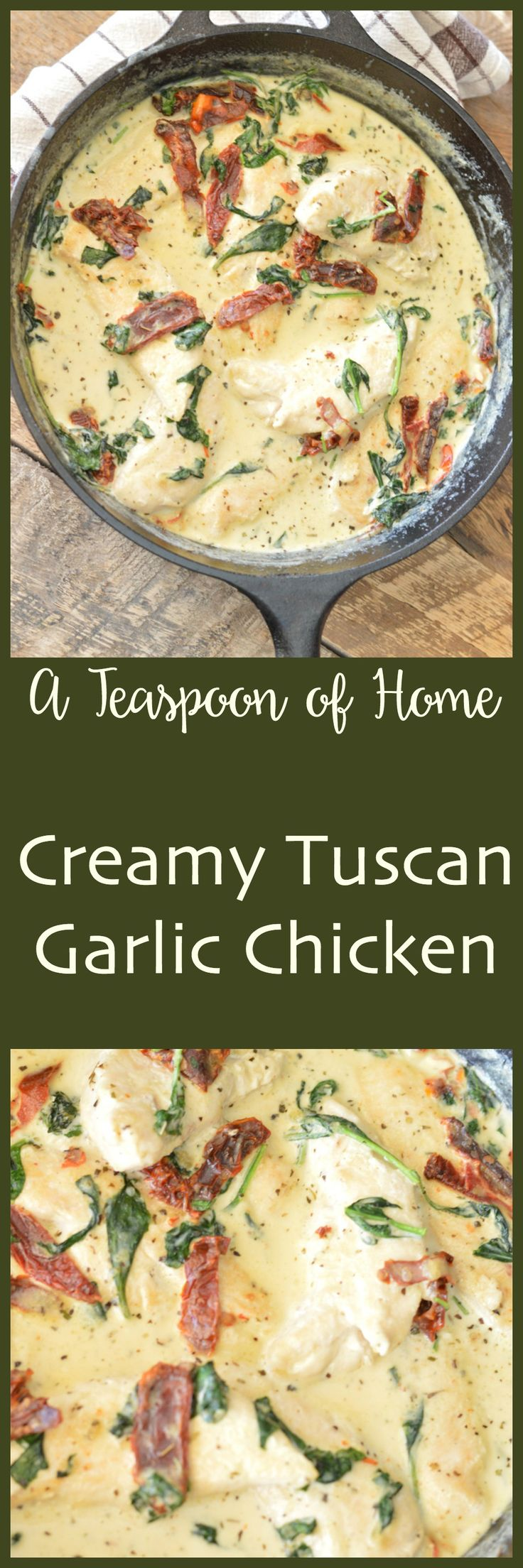 Creamy Tuscan Garlic Chicken by A Teaspoon of Home