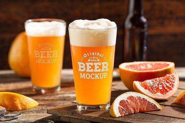 Beer Glass Mock Up 48 Psd Mockup Free Mockups Psd Custom Beer Glasses Custom Pint Glasses Wedding Beer Glass