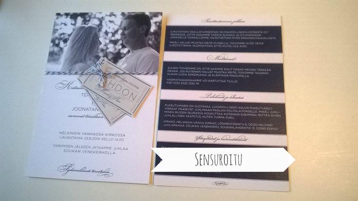 Our wedding invitation, love it!