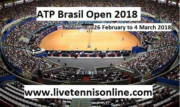 ATP Brasil Open 2018 Live Streaming  Watch Brasil Open Tennis Live On 26 February to 4th March 2018    Tournament:  2018 Brasil Open  Date:             February 26 – March 4  Edition:        18th  Category:     ATP World Tour 250  Draw:           28S / 16D  Prize money:     $455,565  Surface:         Clay  Location:      Sao Paulo, Brazil