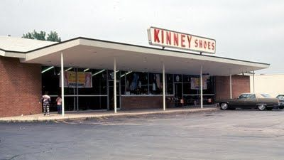 Kinney Shoes store - everyone went back to school shopping at a store like this. At this time, there were no Kinney stores at the mall. A store like this was at 9th & Grand, WDM.