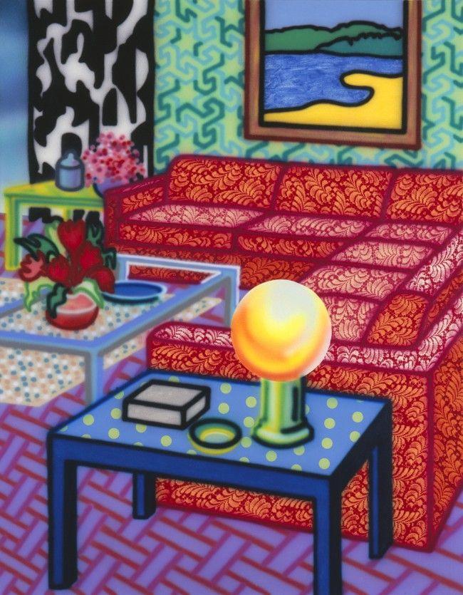 Deluxe Setting - Howard Arkley Genre: Interior Style: Graffiti?